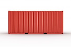 20 ft shipping container red