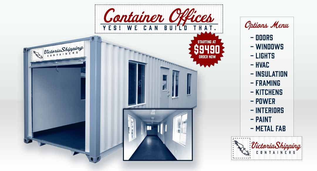 Victoria Shipping Container Offices for sale